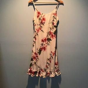 Vintage 90's Floral Silky Cotton Dress